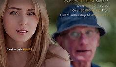 Cute Blond Young Slut fucks Older Man