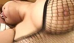 Chubby Japanese harlot Rina Aki loves her filled cock