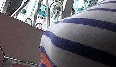 Big tits brunette gf bangs in public stairway