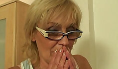 skinny and sexy mom is fucked by a thick cock on the bed